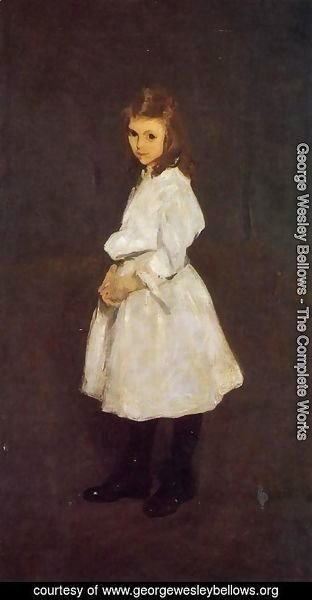George Wesley Bellows - Little Girl in White (or Queenie Barnett)