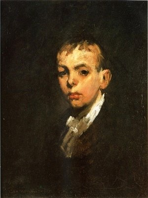 George Wesley Bellows - Head of a Boy (or Gray Boy)