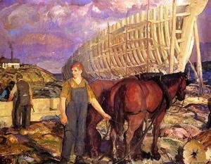 George Wesley Bellows - The Teamster