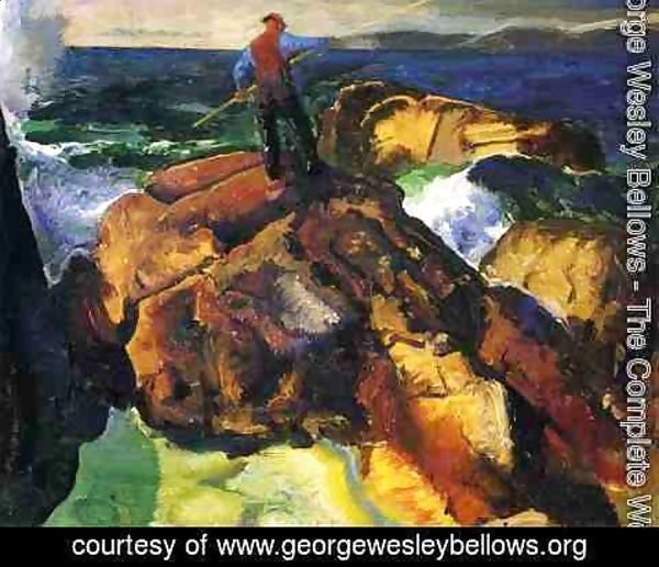 George Wesley Bellows - The Fisherman (study)
