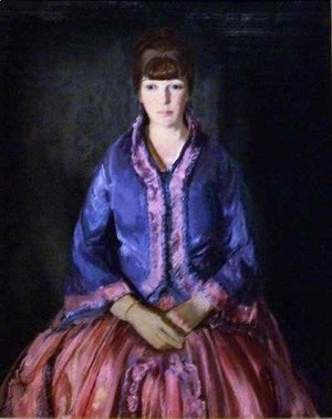 George Wesley Bellows - Emma in the Purple Dress