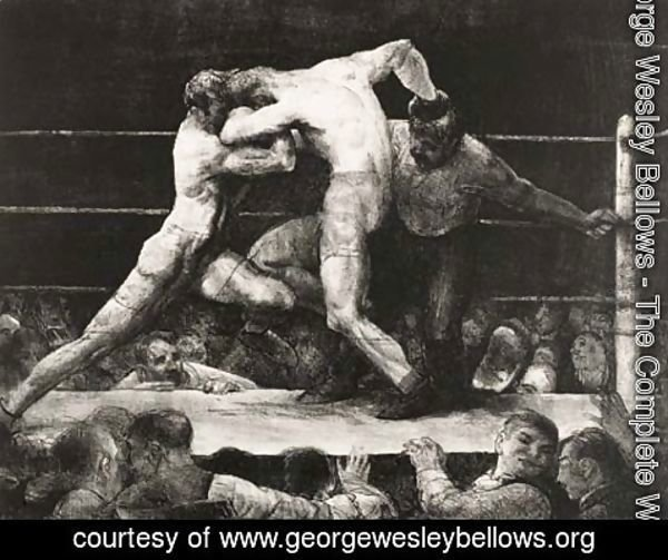 George Wesley Bellows - A Stag at Sharkey's