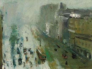 George Wesley Bellows - Upper Broadway