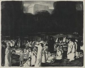 George Wesley Bellows - In The Park, Dark