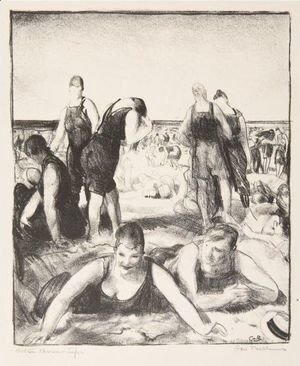 George Wesley Bellows - Bathing Beach