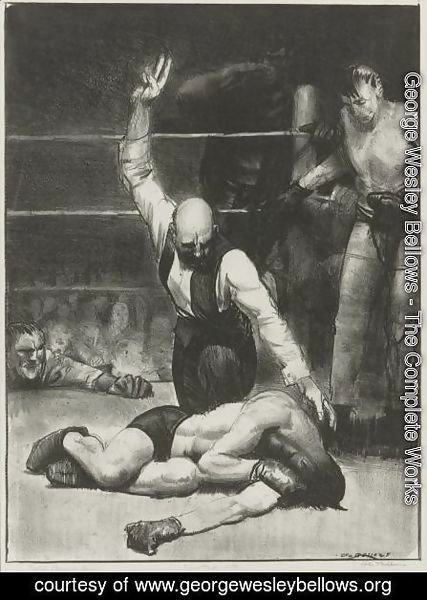 George Wesley Bellows - Counted Out, Second Stone