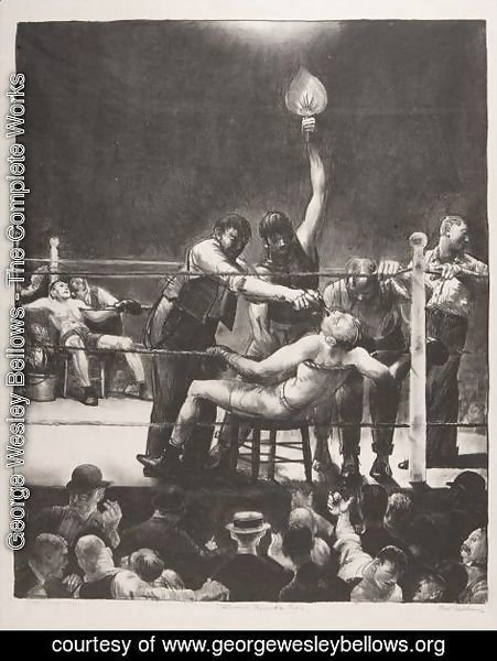 George Wesley Bellows - Between Rounds, Small, Second Stone