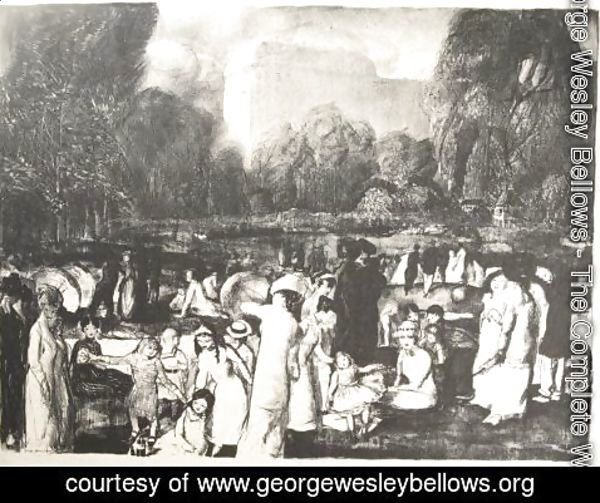 George Wesley Bellows - In The Park, Light