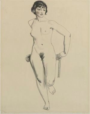 George Wesley Bellows - Standing Nude