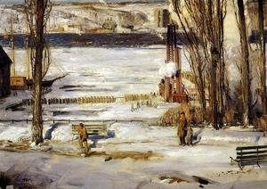 George Wesley Bellows - A Morning Snow