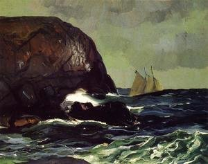 George Wesley Bellows - Beating Out To Sea