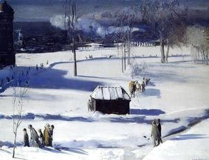 George Wesley Bellows - Blue Snow  The Battery