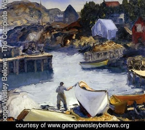 George Wesley Bellows - Cleaning His Lobster Boat