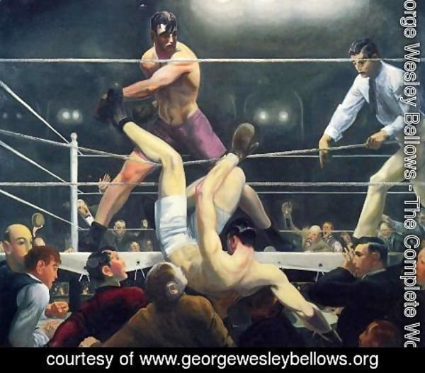 George Wesley Bellows - Dempsey And Firpo Aka Brodies Revenge