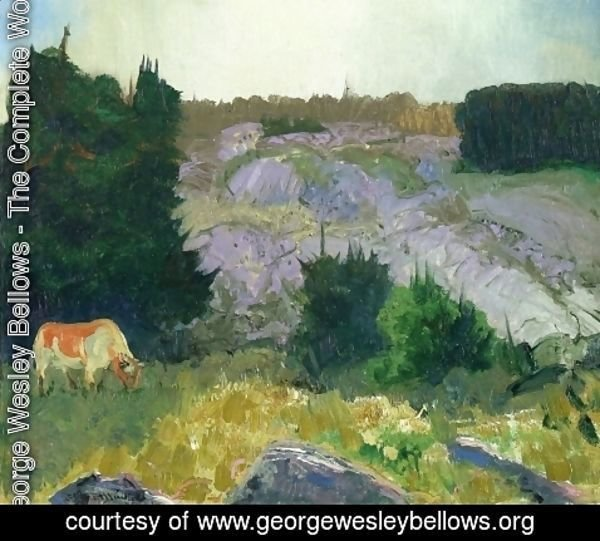 George Wesley Bellows - Edge Of The Pasture   Glow Of The Sun