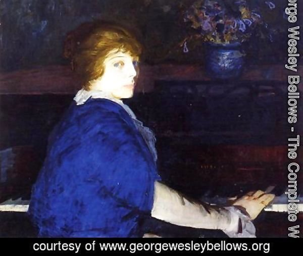 George Wesley Bellows - Emma At The Piano