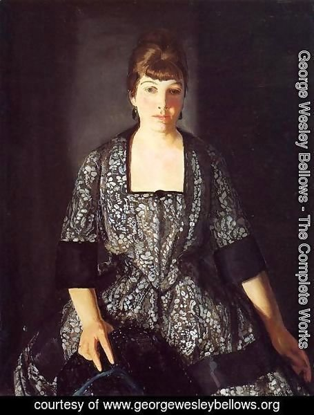 George Wesley Bellows - Emma In The Black Print