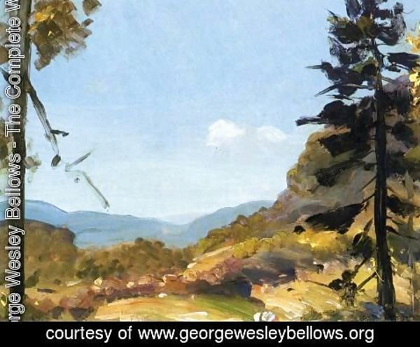 George Wesley Bellows - Evening Hills  Catskill Mountains