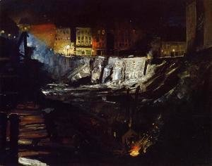 George Wesley Bellows - Excavation At Night