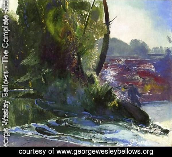 George Wesley Bellows - Fisherman And Stream