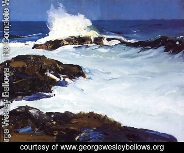 George Wesley Bellows - Flaming Breakers
