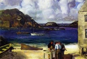 George Wesley Bellows - Harbor At Monhegan Aka Fishing Harbor  Monhegan Island