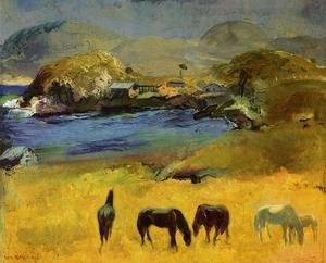 George Wesley Bellows - Horses  Carmel
