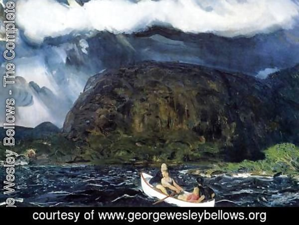 George Wesley Bellows - In A Rowboat