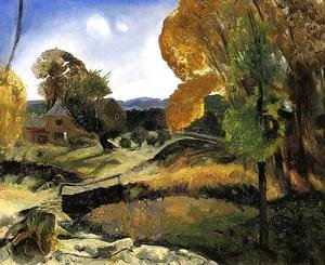 George Wesley Bellows - Little Bridge  Woodstock