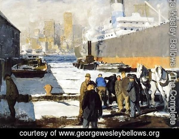 George Wesley Bellows - Men Of The Docks