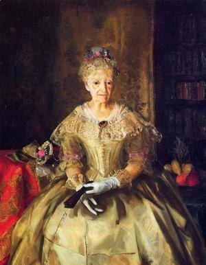 George Wesley Bellows - Mrs  T  In Cream Silk  No 1