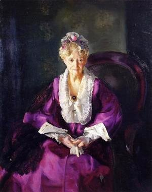George Wesley Bellows - Mrs  T  In Wine Silk