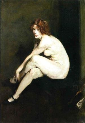 George Wesley Bellows - Nude Girl  Miss Leslie Hall