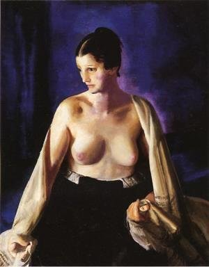 George Wesley Bellows - Nude With White Shawl
