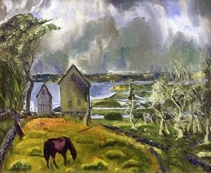 George Wesley Bellows - Old Orchard  Newport  Rhode Island