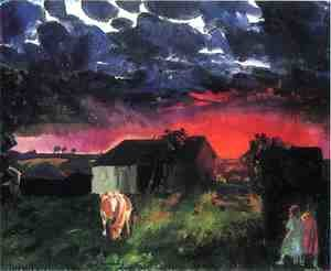 George Wesley Bellows - Red Sun