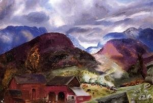 George Wesley Bellows - Snow Capped Mountains