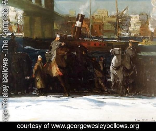 George Wesley Bellows - Snow Dumpers