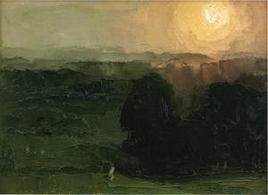 George Wesley Bellows - Sunset  Jersey Hills