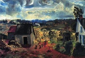 George Wesley Bellows - Sunset  Shady Valley Aka Boggs Road