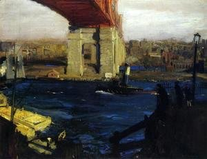 George Wesley Bellows - The Bridge  Blackwells Island