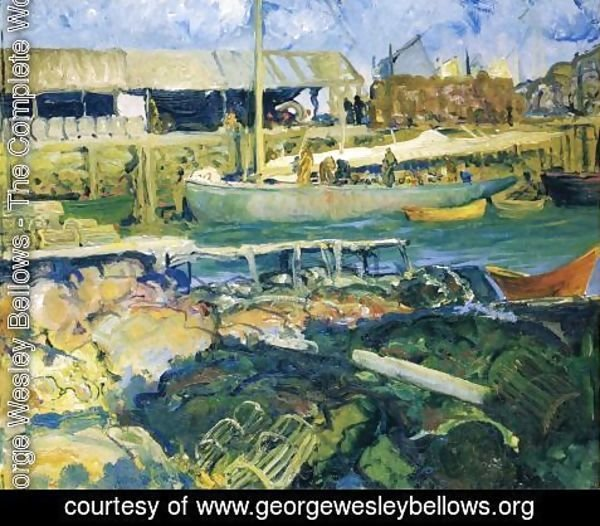 George Wesley Bellows - The Fish Wharf  Matinicus Island
