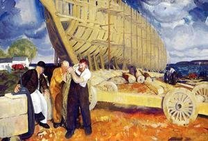 George Wesley Bellows - The Rope Aka Builders Of Ships