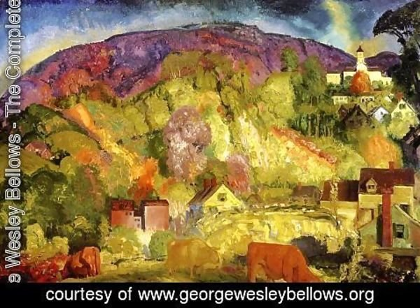 George Wesley Bellows - The Village On The Hill
