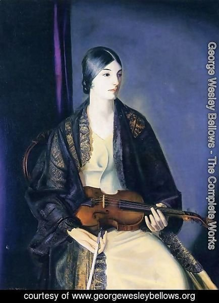 George Wesley Bellows - The Violinist Leila Kalman